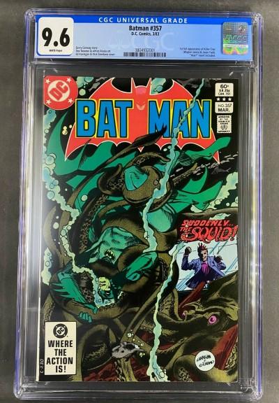 Batman (1940) #357 CGC 9.6 White 1st app Jason Todd & Killer Croc (3804932001)