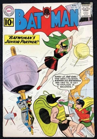 Batman (1940) #141 VG/FN (5.0) 1st app Clockmaster 2nd app Batgirl Batwoman