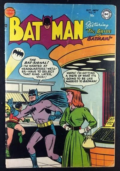 Batman (1940) #79 VG- (3.5) Vicki Vale Bride of Batman