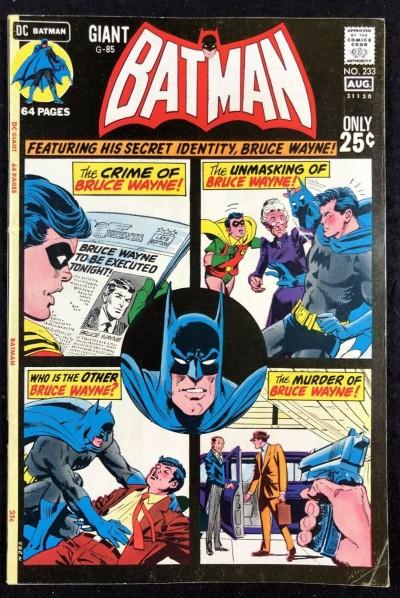 Batman (1940) #233 FN+ (6.5) Giant Size (G-85)