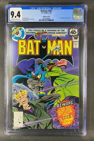 Batman (1940) #307 CGC 9.4 1st App Lucius Fox Whitman Variant (3824796009)