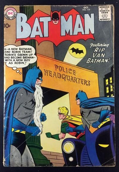 Batman (1940) #119 VG- (3.5) with Robin