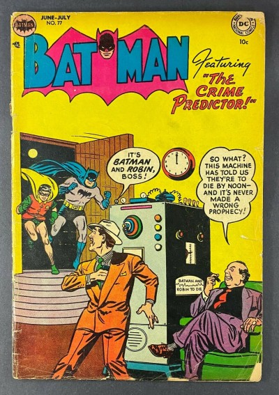 "Batman (1940) #77 GD (2.0) Bob Kane ""The Crime Predictor"" Win Mortimer Art"