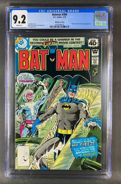 Batman (1940) #308 CGC 9.2 Mr. Freeze / Selina Kyle Whitman Variant (3824796010)