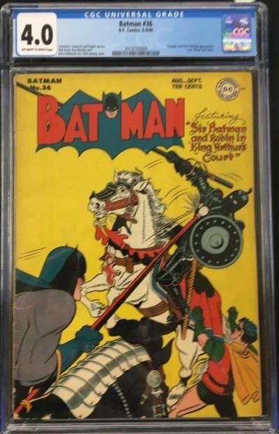 Batman (1940) #36 CGC 4.0 Penguin & Prof. Nichols app Alfred story (2019703009)