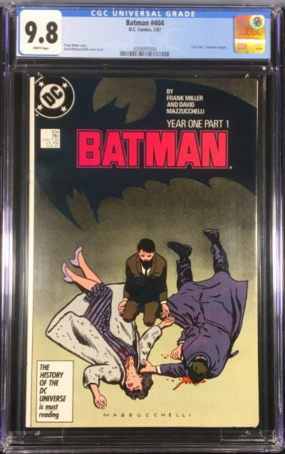 Batman (1940) 404 405 406 407 All CGC 9.8 white Year One set (2009097004)