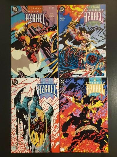 Batman Sword of Azrael Complete Set #1-4 (1993) NM 9.4 1st app Azrael|