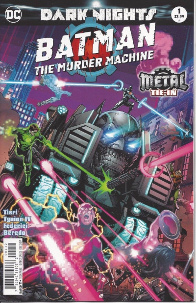 Batman: The Murder Machine (2017) #1 VF/NM 2nd Printing Metal Tie-In