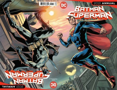Batman/Superman 2021 Annual VF/NM Bryan Hitch Regular Wraparound Cover