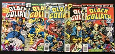Black Goliath (1976) #1 2 3 4 5 VF+ (8.5) complete set Bill Foster