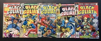 Black Goliath (1976) #1 2 3 4 5 FN/VF (7.0) complete set Bill Foster