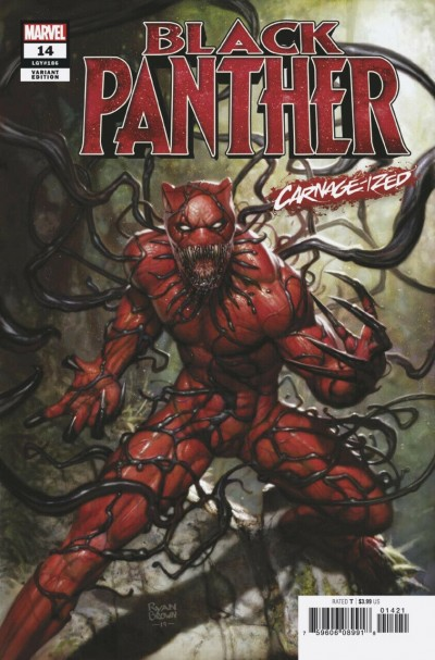 Black Panther (2018) #14 (#186) VF/NM Ryan Brown Carnage-ized Variant Cover