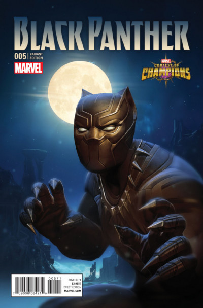 Black Panther (2016) #5 VF/NM Contest of Champions Game Variant Cover