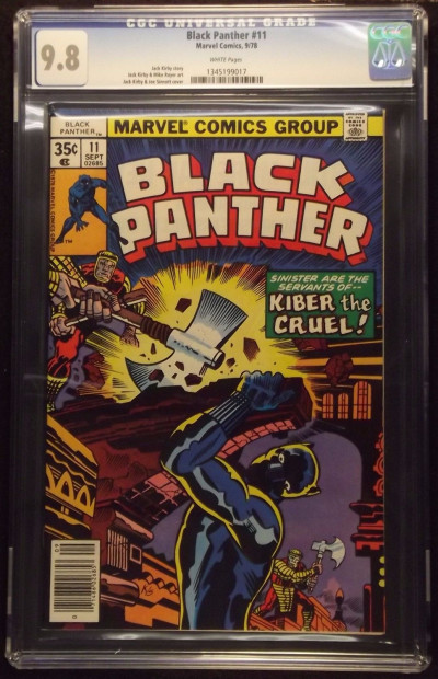BLACK PANTHER (1977) #11 CGC GRADED 9.8 WHITE PAGES JACK KIRBY