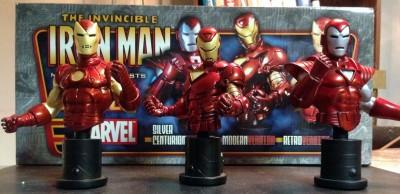 Bowen Iron Man 3 pack bust Silver Centurion Modern Retro #1990/2500 MIB
