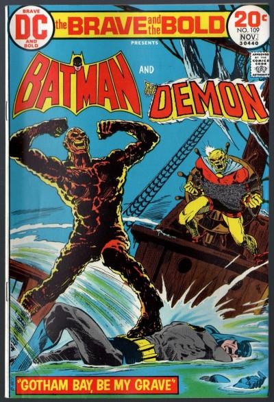 Brave and the Bold (1955) #109 FN (6.0) Batman & Demon Aparo Cover & art