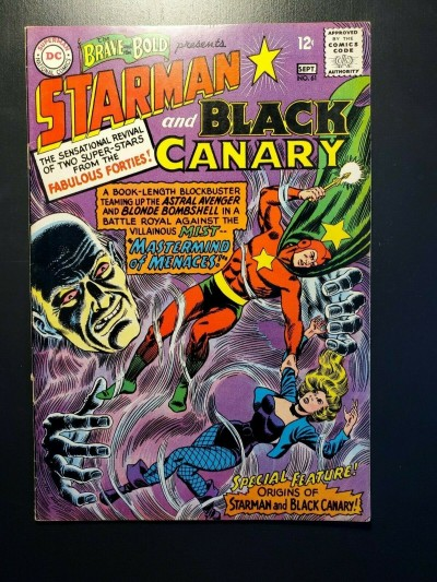 BRAVE AND THE BOLD #61 F/VF (7.0) HIGH GRADE ORIGIN OF BLACK CANARY & STARMAN|