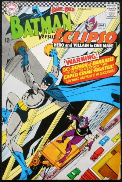 BRAVE AND THE BOLD #64 VG+ BATMAN VS ECLIPSO