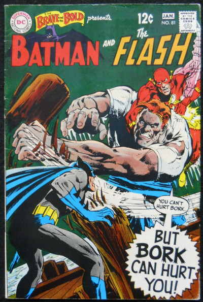 BRAVE AND THE BOLD #81 FN/VF BATMAN AND THE FLASH NEAL ADAMS