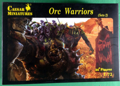 Caesar Miniatures 1/72 Orc Warriors Set 2 34 figures #F109 Lord of the Rings