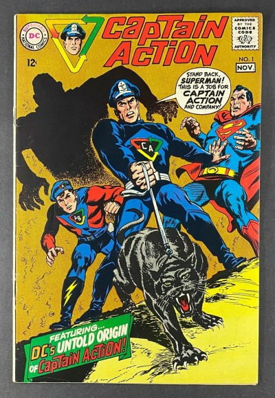Captain Action (1968) #1 VG+ (4.5) Wally Wood Art