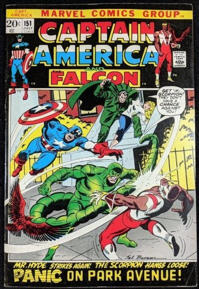 Captain America (1968) #151 FN+ (6.5) vs Scorpion