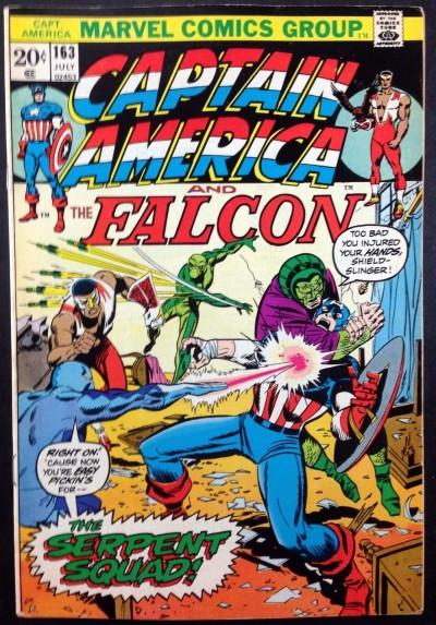 Captain America (1968) & Falcon #163 FN/VF (7.0) 1st Serpent Squad Viper Cobra