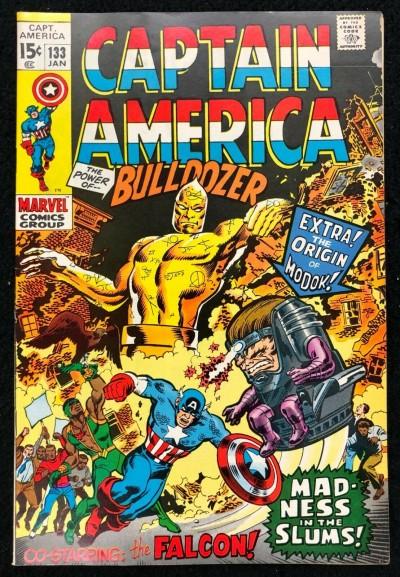 Captain America (1968) #133 FN+ (6.5) Origin Modok Falcon becomes Cap's partner