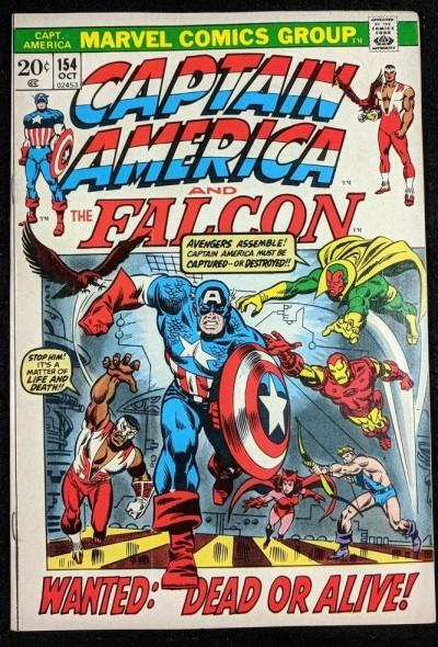 Captain America (1968) #154 VF- (7.5) 1st app Jack Monroe (Nomad)