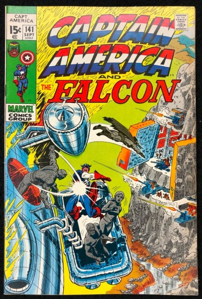 Captain America (1968) #141 FN+ (6.5) co-starring Falcon vs Gargoyle