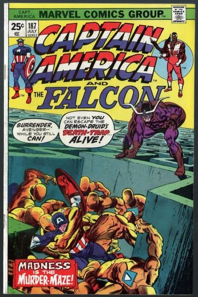 Captain America (1968) & Falcon #187 VF- (7.5)