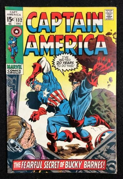 Captain America (1968) #132 FN+ (5.5) Bucky & Modoc