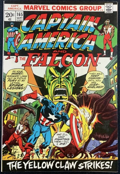 Captain America (1968) #165 VF/NM (9.0) Vs Yellow Claw
