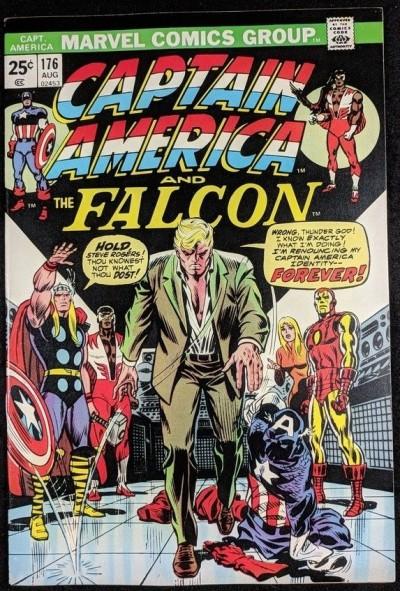 Captain America (1968) #176 VF+ (8.5) Steve Rogers renounces Captain America ID