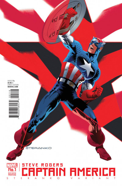 Captain America:Steve Rogers (2016) #1 VF/NM 2nd Print Steranko Variant Cover