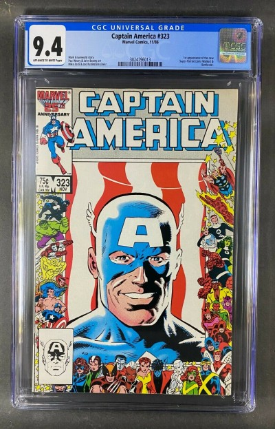 Captain America (1968) #323 CGC Graded 9.4 1st App John Walker (3824796013)