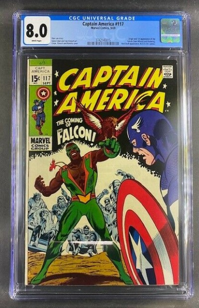 Captain America (1968) #117 CGC 8.0 Origin & 1st Appearance Falcon (3742140015)