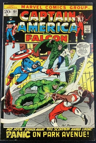 Captain America (1968) #151 FN+ (6.5) Scorpion & Mr. Hyde