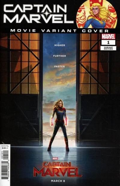 Captain Marvel (2019) #1 VF/NM-NM Movie Photo Variant Cover