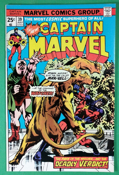 Captain Marvel (1968) #39 VF (8.0) Watcher app