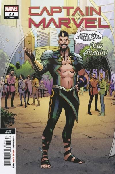 Captain Marvel (2019) #23 VF/NM 2nd Printing Variant Cover
