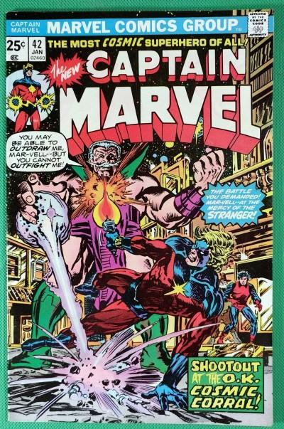 Captain Marvel (1968) #42 VF- (7.5) vs The Stranger