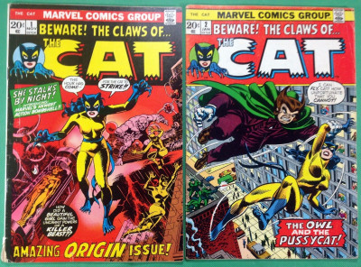 Cat (1972) 1 2 3 4 complete set FN (6.0) Origin & 1st app later becomes Tigra