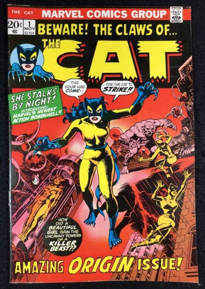 Cat (1972) 1 2 3 4 complete set VF+ (8.5 ) Origin & 1st app later becomes Tigra