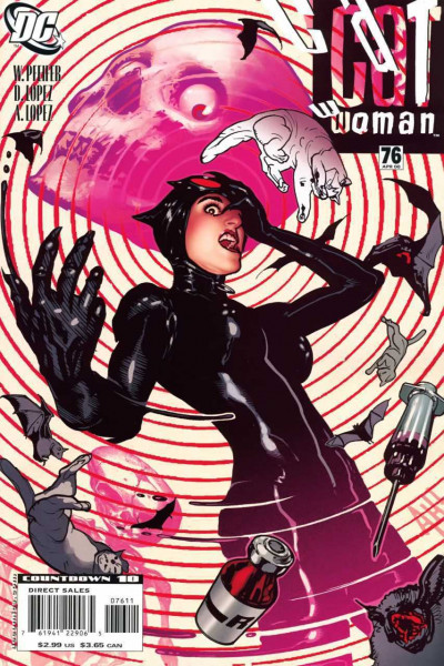 Catwoman (2002) #76 NM Hypodermic Needle Death Cats Bats Adam Hughes Cover