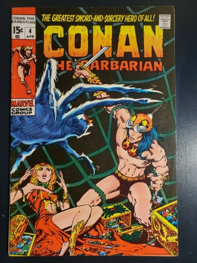 Conan the Barbarian #4 (1971) F/VF (7.0) Classic Barry Windsor Smith Art copy 1|