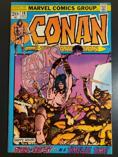 CONAN THE BARBARIAN #19 (1972) FN/VF (7.0) GREAT BARRY WINDSOR-SMITH ART |