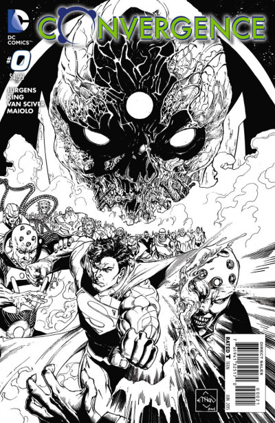CONVERGENCE (2015) #0 OF 8 VF/NM 1:10 SKETCH VARIANT COVER