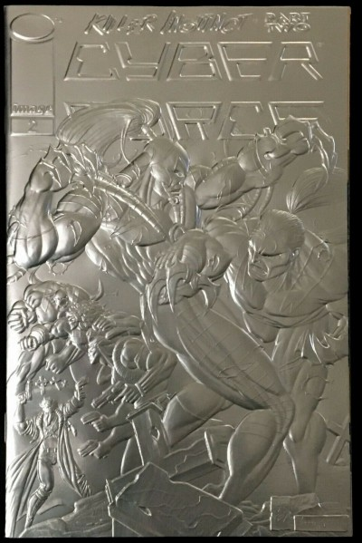 Cyber Force (1993) #2 NM (9.4) or better silver foil embossed variant Image