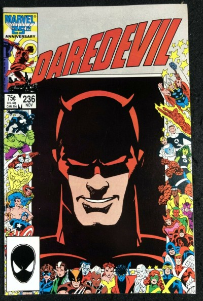 Daredevil (1964) #236 NM (9.4) Barry Smith Art 25th Anniversary Picture Frame